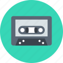 analog, audio, audiotape, music, tape icon