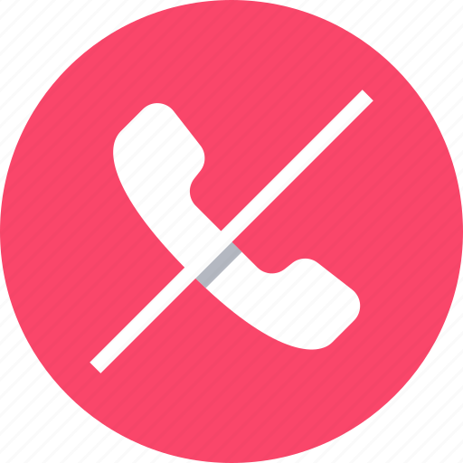 call, deny, mobile, phone icon