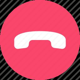 decline, hangup, phone icon