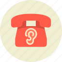device, ear, eavesdrop, phone, wiretapping icon