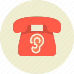 eavesdrop, phone, wiretapping icon