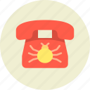 bug, call, communication, device, eavesdrop, phone, wiretapping icon