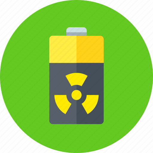atomic, battery, energy, nuclear, radiation icon