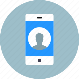 call, contact, device, iphone, mobile, phone, smartphone icon