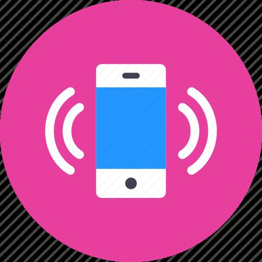 device, smartphone, vibrate icon