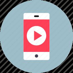 mobile, player, smartphone icon