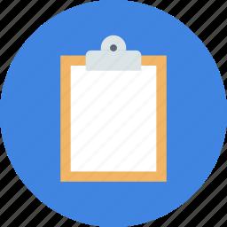 board, buffer, clip, clipboard icon
