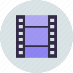 media, movie, strip icon