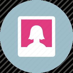 album, avatar, female, gallery, image, painting, photo icon