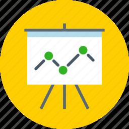 analytics, board, presentation icon