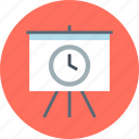 board, presentation, time icon