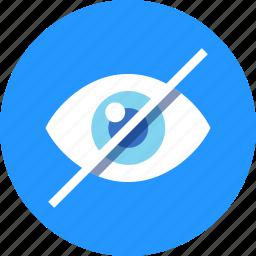 disable, eye, view, views, watch icon