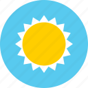 big, brightness, high, sun icon