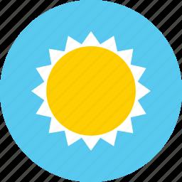 big, brightness, high, sun icon