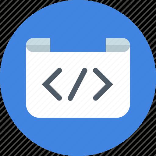brackets, code, coding, development, html, script, tag icon