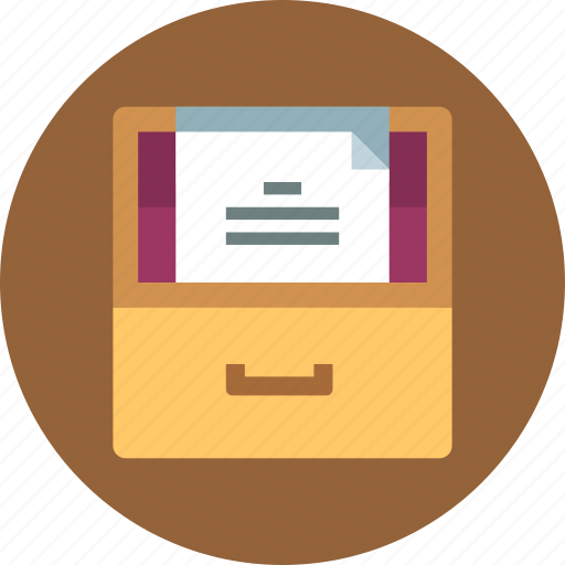 archive, documents, files icon