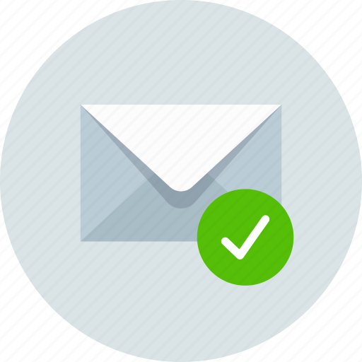 aprove, check, email, envelope, mail, message icon