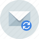 email, envelope, sync icon