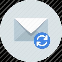 email, envelope, sync icon