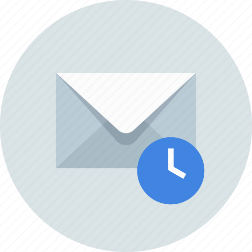 date, email, envelope, history, mail, message, time icon