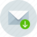download, email, envelope, mail, message, send icon