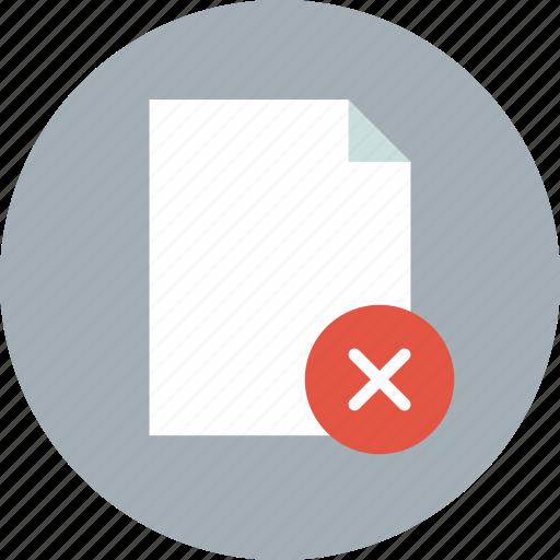 delete, document, file, page, paper, remove, sheet icon