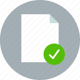 aprove, check, document, file, page, paper, sheet icon