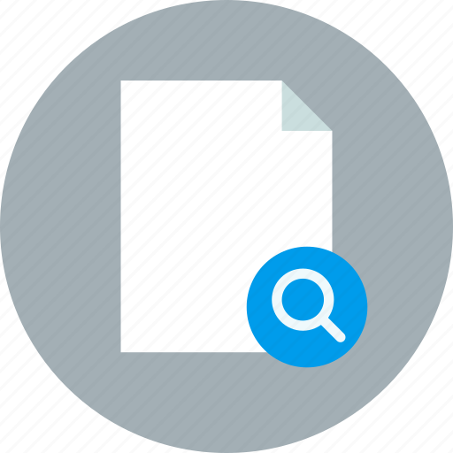 document, file, page, paper, search, sheet icon