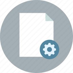 document, file, page, paper, settings, sheet icon