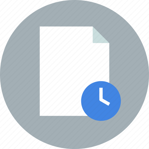 document, file, history icon