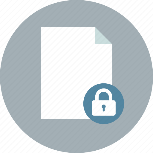document, file, lock icon