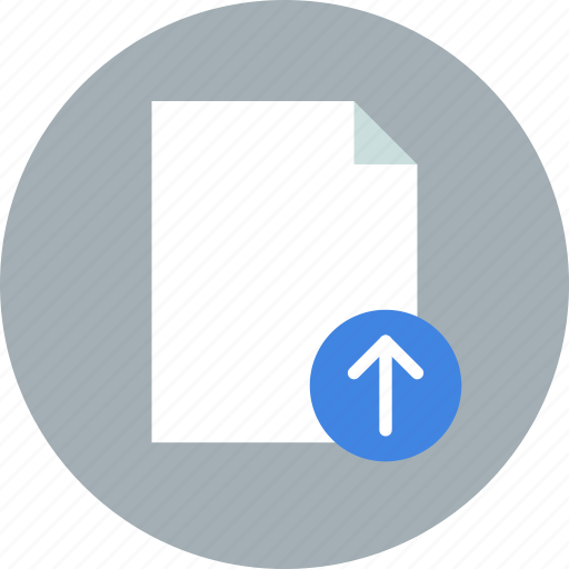 document, file, import, page, paper, sheet, upload icon