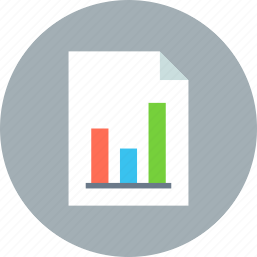 chart, document, file, graphic, paper, sheet, statistics icon