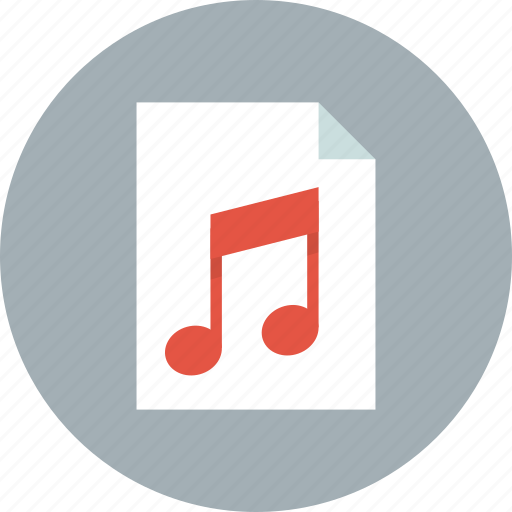 audio, document, file, music, page, paper, sound icon