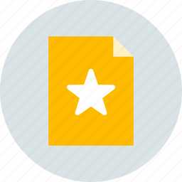 document, favorite, page icon