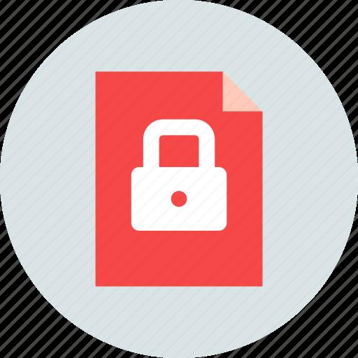 document, file, private icon