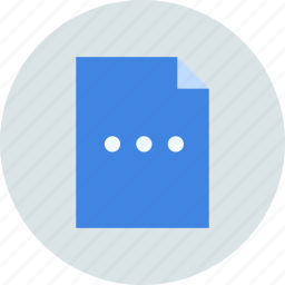 document, file, more, options, page, paper, sheet icon