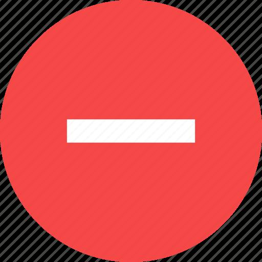 decrease, minus, substraction icon