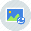 gallery, photo, sync icon