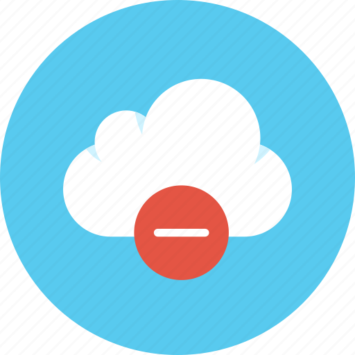 cloud, data, erase icon