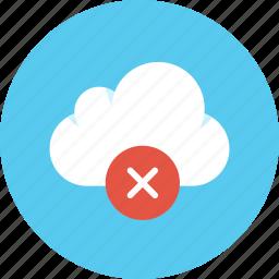 cloud, data, delete, remove, storage icon