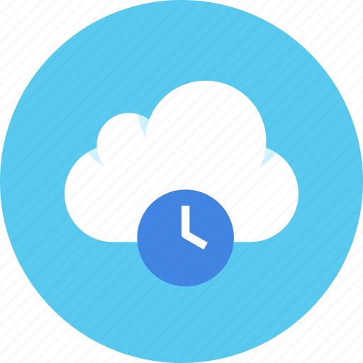 cloud, data, date, history, storage, time icon