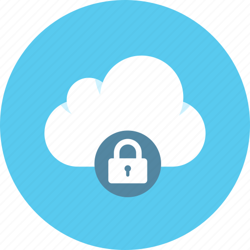 cloud, lock, protection icon