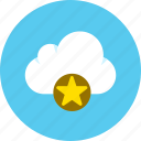 cloud, data, favorite, storage icon