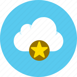 cloud, data, favorite, storage icon