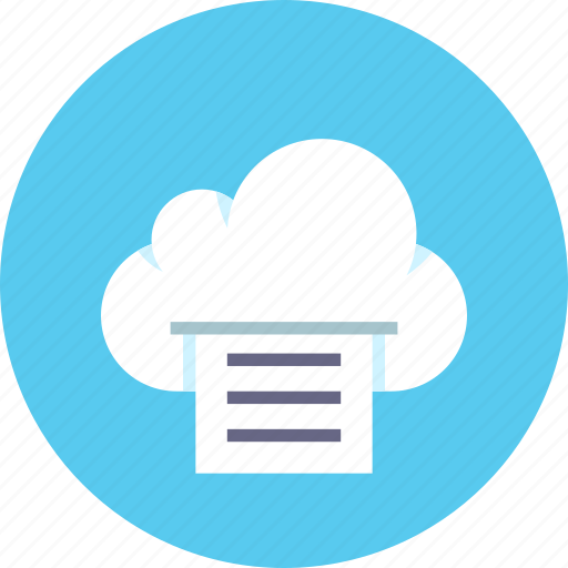 cloud, data, file, files, print, storage icon