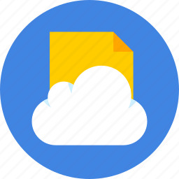 cloud, document, files icon