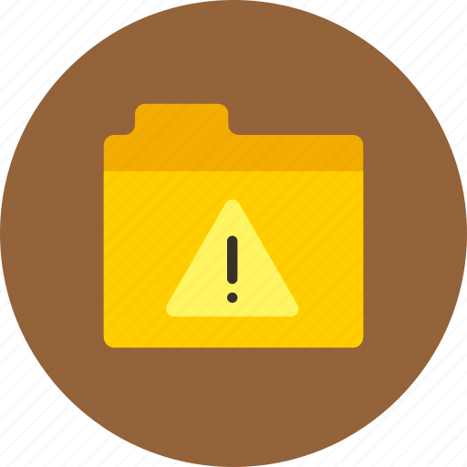 alert, files, folder, storage, warning icon