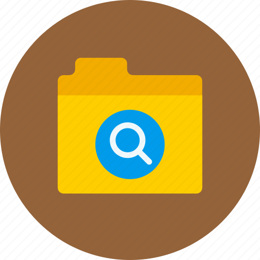 files, folder, search, storage icon