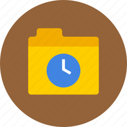 date, files, folder, history, storage, time icon
